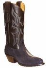 Star Boots for Women Navy Blue Stingray Boots W9002
