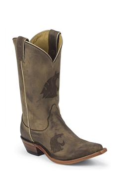 Washington State University Cougars Womens Officially Licensed Boots by Nocona LDWSU11
