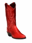 "Women's Abilene Red 11"" Soft Textured Western with Genuine Leather Outsole Covered Wagon Toe 9129"