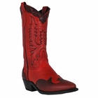 "Women's Abilene Red 11"" Wingtip Western with Collar Genuine Leather Outsole Snip Toe 9041"