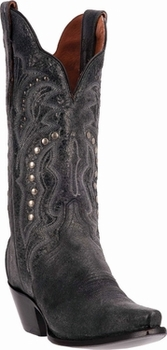 "Women's Dan Post ""Carisma"" Black Crackle Leather Boot DP3447"
