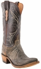 "Women's Lucchese ""Anita"" Bark & Chocolate Burnished Lizard Boot N4088"