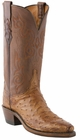 """Women's Lucchese """"Lillian"""" Barnwood Pin Ostrich Boots N4062"""