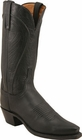 """Womens Lucchese """"Amberle"""" Black Burnished Ranch Hand Boots N4605"""
