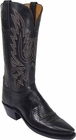 """Womens Lucchese """"Savannah"""" Black Burnished Mad Dog Goat Boots N4559"""