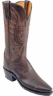 """Womens Lucchese """"Savannah"""" Chocolate Mad Dog Goat Leather Boots N4554"""