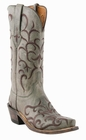 Womens Lucchese Since 1883 Seagreen Madras Mad Dog Goat with Fancy Stitch M5037