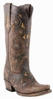 Womens Lucchese Since 1883 Studded Scarlette Cafe Brown Calf M5015
