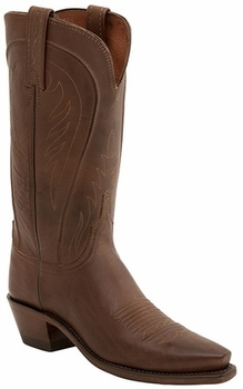 "Womens Lucchese ""Amberle"" Tan Burnished Ranch Hand Boots N4604"