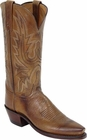 """Womens Lucchese """"Savannah"""" Tan Mad Dog Goat Leather Boots N4540"""