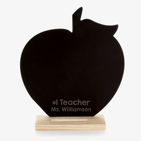 #1 Teacher Custom Apple Chalkboard w/ Stand