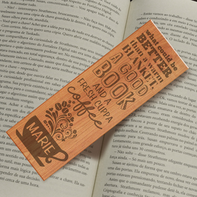 A Good Book Personalized Bookmark