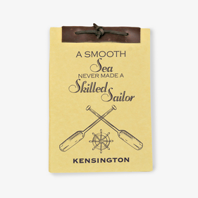 A Smooth Sea Antique Style Personalized Notebook