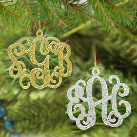 Acrylic Christmas Monogram Ornament