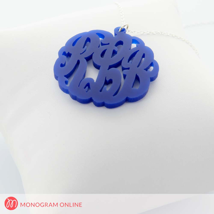 Acrylic Monogram Necklace -Script Letters