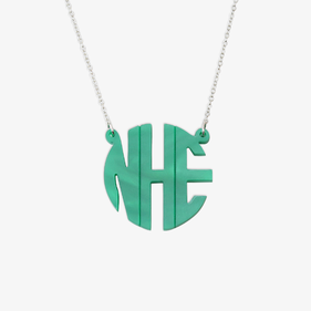 Acrylic Monogram Split Chain Necklace In Block Letters