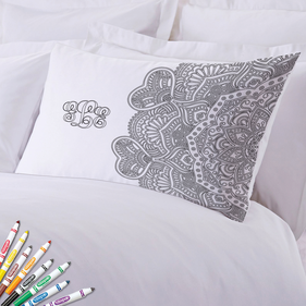 Add Color Intricate Design Custom Pillowcase