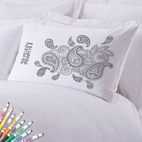 Add Color Paisley Print Custom Pillowcase