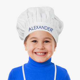 """Alexander Personalized Chef In Training Hat <p><span style=""""color:#ff0000;"""">***CHEF HAT IS CURRENTLY OUT OF STOCK"""