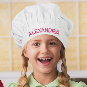 """Alexandra Personalized Chef In Training Hat <p><span style=""""color:#ff0000;"""">***CHEF HAT IS CURRENTLY OUT OF STOCK"""