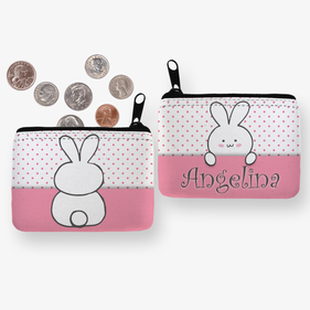 Angelina Bunny Personalized Coin Purse