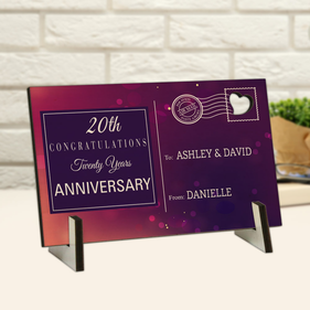 Anniversary Congratulations Custom Wood Postcard