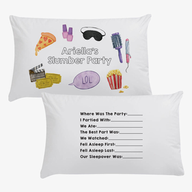 Ariella's Slumber Party Personalized Pillowcase