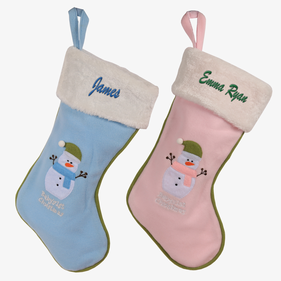 Baby's 1st Custom Embroidered Plush Christmas Stocking