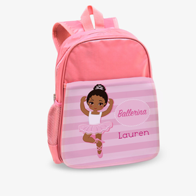Ballerina Custom Kids Pink Backpack