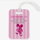 Ballet Slippers Custom Name And Address Luggage Tag