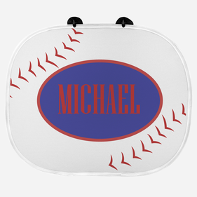 Baseball Personalized Name Sunshade
