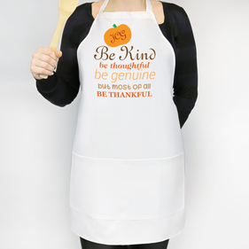 Be Thankful Personalized Adult Apron