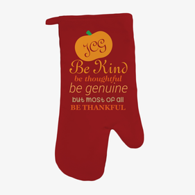 Be Thankful Personalized Oven Mitt