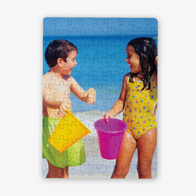 Beach Day Personalized Kids Photo Puzzle / 80 Pieces