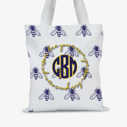 Bee Your Own Person Personalized Kids Tote Bag