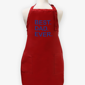 Best Dad Ever Personalized Men's Twill Apron