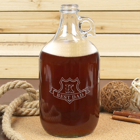 Best Dad Personalized Beer Growler