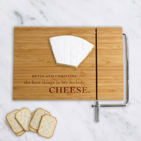 Best Things In Life...Custom Wood Cheese Cutting Board