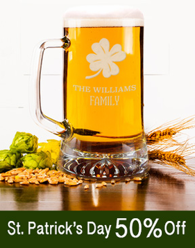 St.Patrick's Day Gifts - use code STPAT50 for 50% Off