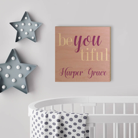BeYoutiful Personalized Wood Wall Art