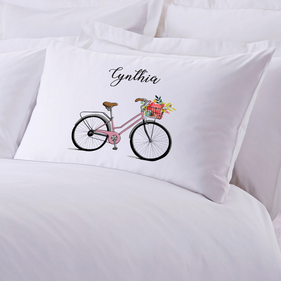 Bicycle Personalized Kids Pillowcase