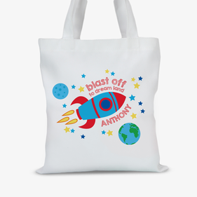 Blast Off To Dream Custom Land Kids Tote Bag