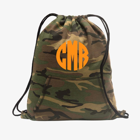 Block Monogram Fleece Sweatshirt Cinch Back Pack