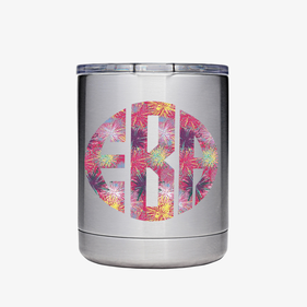 Block Monogram Vinyl Steel Vacuum Insulated Small Tumbler