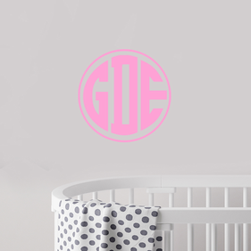 Block Monogram Vinyl Wall Decal