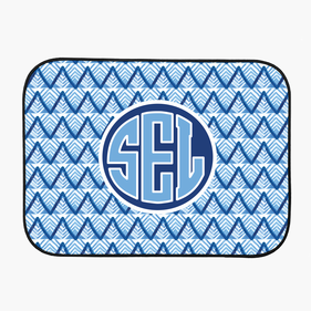 Blue Monogram Back Car Mat