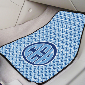 Blue Monogram Front Car Mat