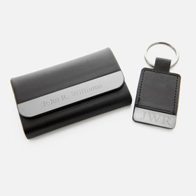 Personalized Boxview Card Case and Key Chain Gift Set
