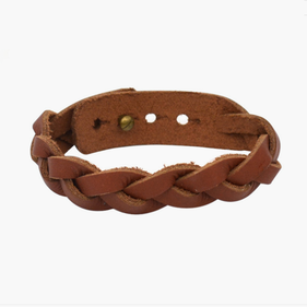 Braided Genuine Leather Bracelet