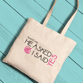 Personalized Bride Totes